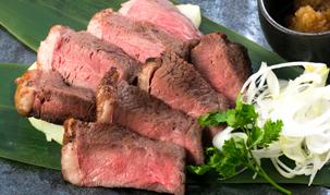 特選!牛イチボ肉のロゼステーキ 1,280円(税抜)