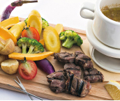 季節野菜のステーキバーニャカウダ